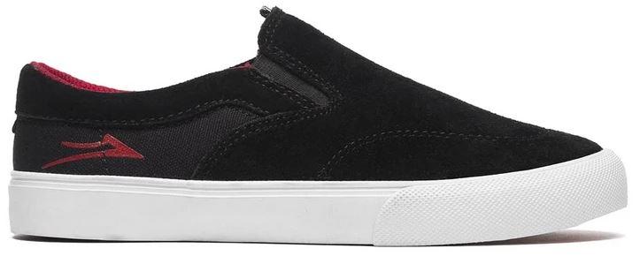 Lakai Owen Slip-On Black/Red Skateboard Shoes