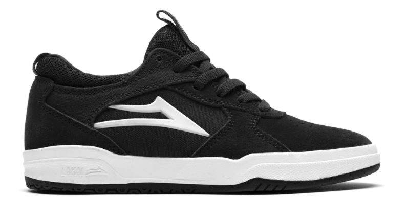 Lakai Proto Black/White Kids Skateboard Shoes