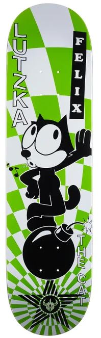 Darkstar x Felix The Cat Vortex Lutzka 8.125 Skateboard Deck