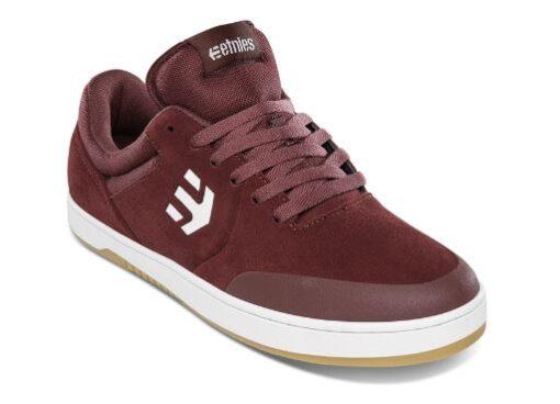 Etnies Marana Maroon/White Skateboard Shoes