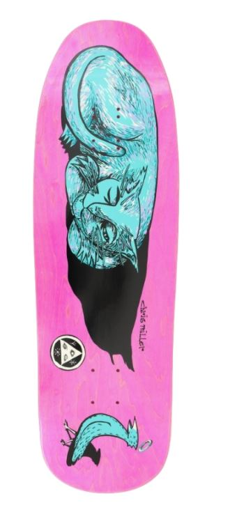 Welcome Sleeping Cat on Gaia 9.6 Skateboard Deck
