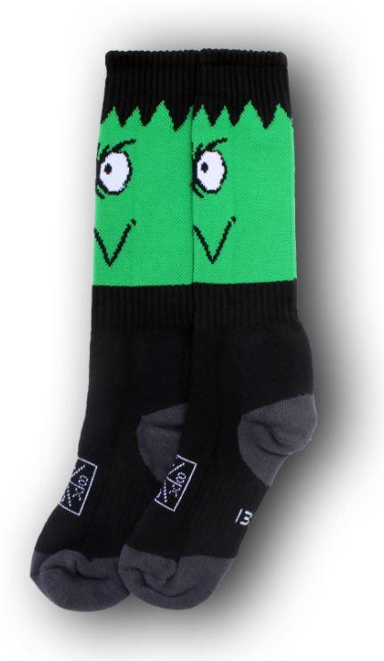Sk8 Sox Monster II Black/Green Socks