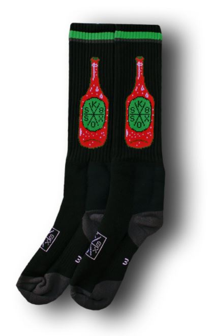 Sk8 Sox Soft Drink Black Socks
