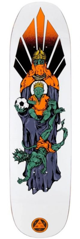 """Welcome Futbol on Son of Moontrimmer White 8.25"""" Deck"""