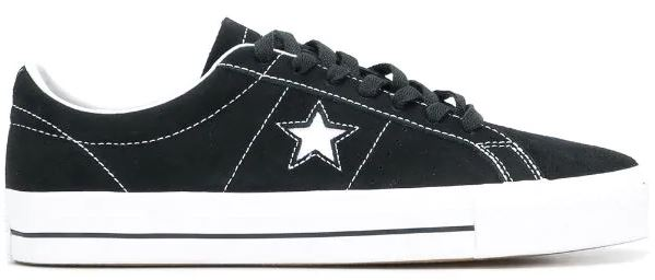 Converse One Star Pro Low Suede Black/White Shoes