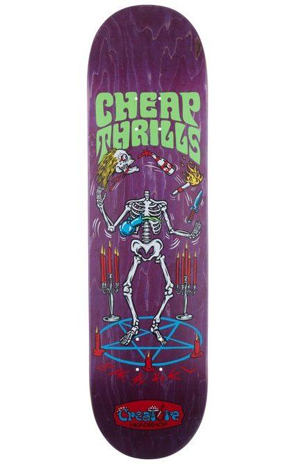 """Creature Baekkel Cheap Thrills 8.37"""" Skateboard Deck"""